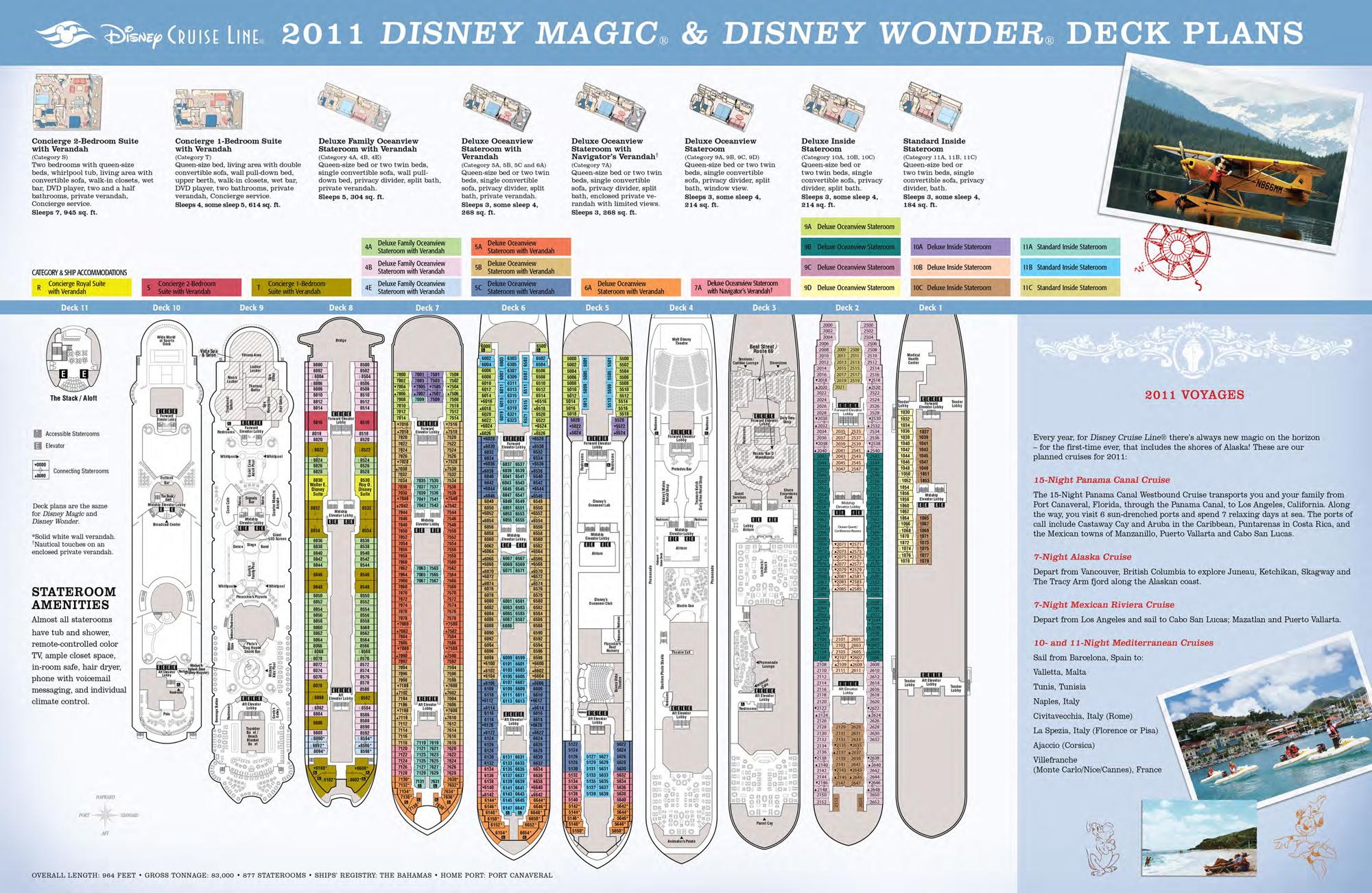 2011 Disney Cruise Deck Plans